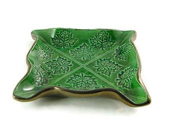 Maple Leaves Freeform Handmade Pottery