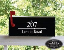 Classic Mailbox Address Only Vinyl Decal (E-004c)
