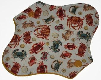 Liner Hemp Core- Crabs Reusable Cloth Petite Pad- 6.5 Inches