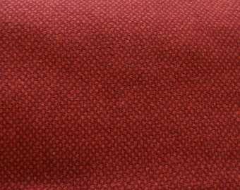 Red Texture -  Felted Wool Fabric Yard in 100% Wool Perfect for Rug Hooking, Quilting, Sewing, and Applique by Quilting Acres