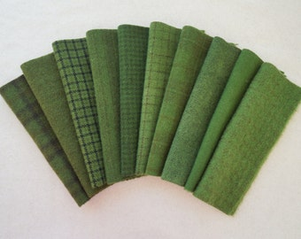 Green Hand Dyed and Felted Wool Fabric Number 6020D Perfect for Quilting, Applique, Rug Hooking and Sewing by Quilting Acres