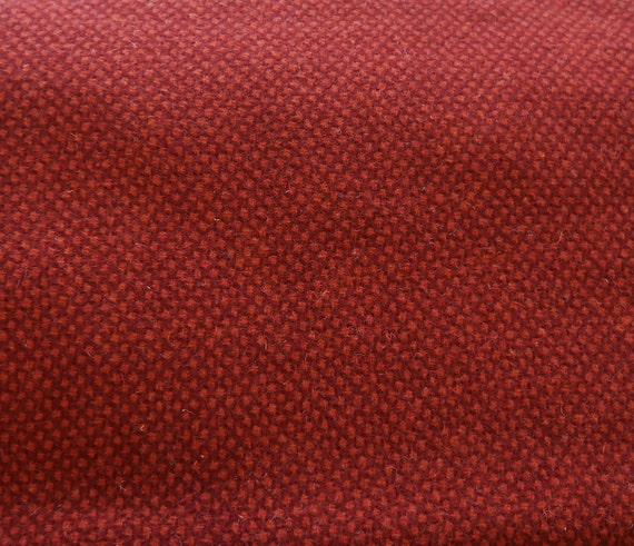 Red Texture - Felted Wool Fabric Yard in 100% Wool Perfect for Rug Hooking,