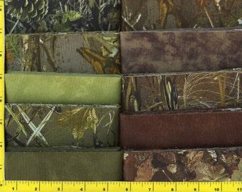 Woodland Camo Jelly Roll 40 - 2 1/2 inch strips - Choice Fabrics