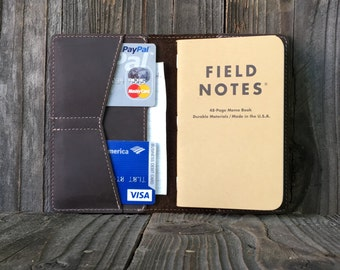 Field Notes Leather Cover - Journal Cover - Oil Brown