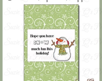 Snowman Popcorn Wrapper 2 - Digital Printable - Immediate Download