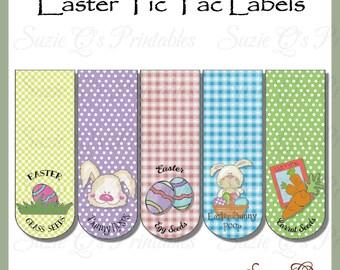 Easter Tic Tac Labels, set of 5 - Digital Printable - Immediate Download