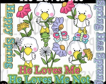 He Loves Me Clipart Collection - Immediate Download