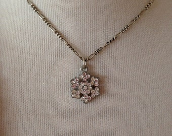 Sparkling Snow Flake Magical silver and swarovski Necklace