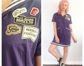 STORE SALE 30% off Vintage Coffee Shop Sailor Mini Dress