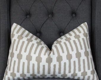 Taupe Pillow Cover, Decorative Pillow, Lumbar Pillow, Throw Pillow, Taupe Links,  Home Furnishing, Home Decor