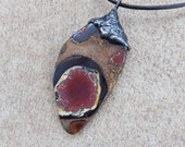 RESERVED until 6th of July -Boulder Opal pendant necklace  - the planet - unique magical natural stone handmade jewelry