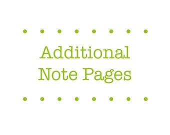 Add Notes Pages for Planner