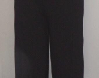 Coco and Juan Plus Size Capris,  Black Traveler Knit Crop Pant. Size 2 fits 3X, 4X