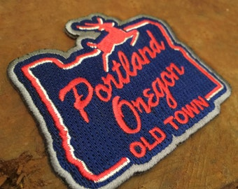 White Stag Sign Portland Oregon | Embroidered Patch