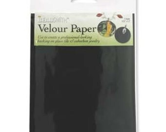 free ukpostage- Black Velour Paper Pack of 4 Sheets
