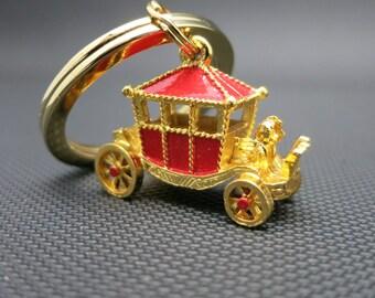 Royal Coach key ring Red enamel England Royalty