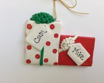 Personalized Couple Christmas Ornament /First Christmas/Couple ornament/BFF /Twins/ 2 Gifts