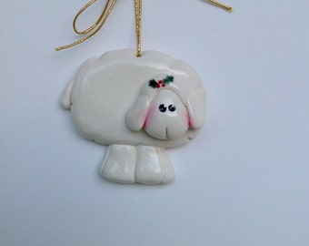 Personalized Lamb Christmas Ornament/sheep/ornament for Children