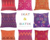 WHOLESALE, 9 PIECES, Pillow, Cushion, Cotton, Ikat, Ethnic, Bohemian, Tropical, Industrial, Graphic, Global Decor, Bali