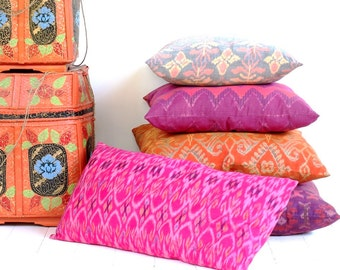IKAT Pillow, Indonesia, Bali, Handwoven, Cotton, Made to Order
