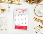 SALE. Instant Download Valentine Word Search Cards. Valentine Game. Boy Valentine Card. Girl Valentine Card. Arrow Valentine Card