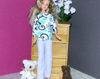 BSPJ-04) Barbie flannel pajamas