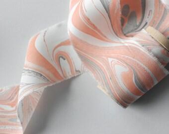 Marbled Silk Ribbon in Autumn Leaf