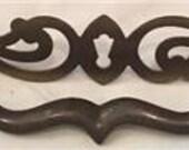Vintage Brass Decorative Skeleton Key Hole Drawer Cabinet Pull Handle KBC K11007