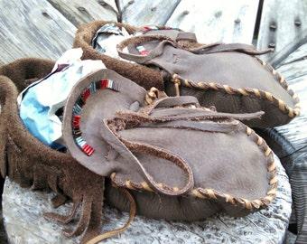 Buffaloskin Adult Moccasins - Size 7 Women