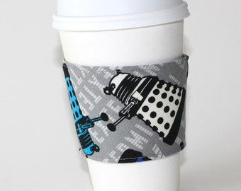 Colorful Daleks Reusable Coffee Sleeve for Doctor Who lovers