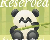 Reserved for sarah