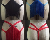 Shimmy Fringe Burlesque Cage Thong Panties Made to Order