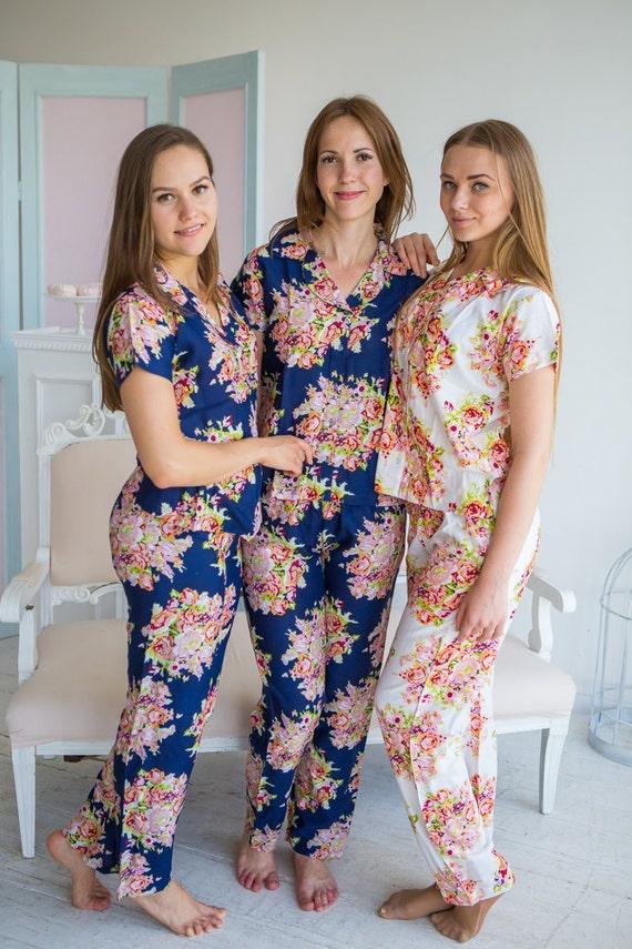 new floral pjs 2 piece pajama sets getting ready pajamas