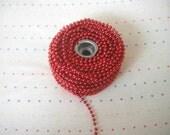 Metallic Red Bead Trim - 3 Yards