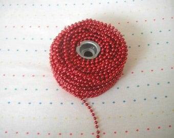 Small Metallic Red Bead Trim, 4 mm - 24 Yards