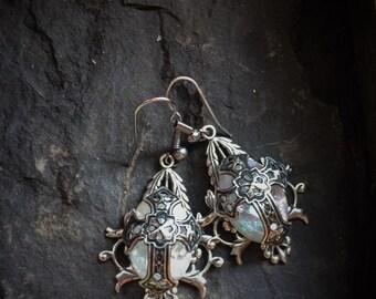 Medieval Cross Earrings