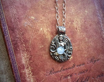 Mermaid and Moonstone Necklace
