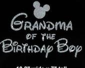 Mickey Mouse Grandma of the Birthday Boy iron on glitter transfer DIY applique DIY patch