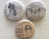 Ear Nose and Throat Vintage Dictionary Illustration Magnet Set of 3