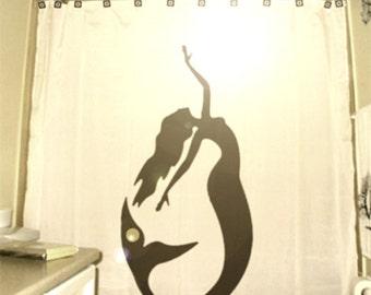 Mermaid Shower Curtain bathroom decor custom unique shower curtains kids bath gift