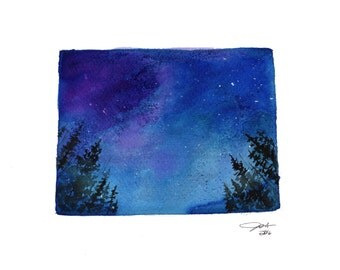 A Colorado Sky, print from original watercolor from Painting the 50 States by Project by Jessica Durrant
