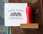 Custom Return Address Stamp // Personalized Rubber Stamp // JARDIN