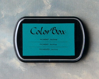 Teal Blue Stamp Pad (Turquoise) // Pigment Archival Ink // ColorBox