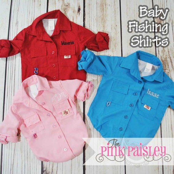 Monogrammed baby fishing bodysuit shirt baby fishing outfit for Baby fishing shirts
