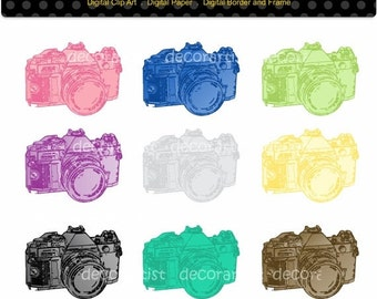 ON SALE Camera clipart, photographer clipart, instant download clipart , camera digital clipart