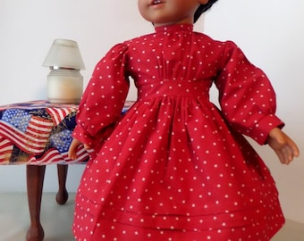 18 Inch Doll Clothes / Doll Dress / Red Doll Dress / Doll Clothes / Doll Clothing / Doll Accessories / Fits American Girl Doll - 1031