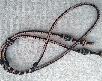 Braided Kangaroo Leather Bolo Tie