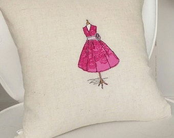 Freehand Embroidery Handmade Mannequin Cushion Cover Single Dress