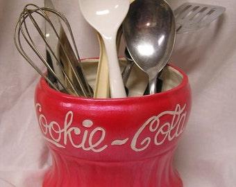 Cookie Cola Kitchen Utensil Holder/Vase/Deep Dish Candy Dish