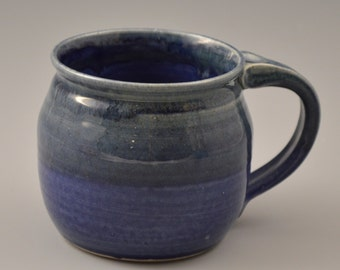 Navy Blue with Green Mug - Coffee Cup #1
